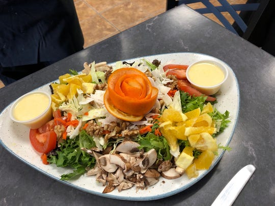 Colorful Asian salad at Le Testimony.