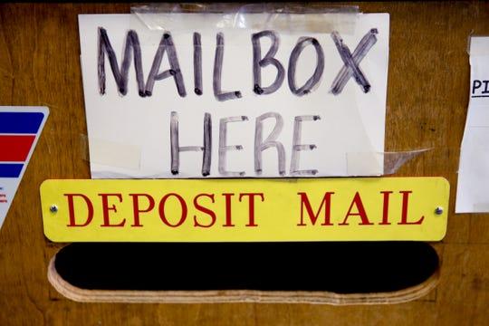 A mail slot at Postal Plus in Salem on Dec. 13, 2019.