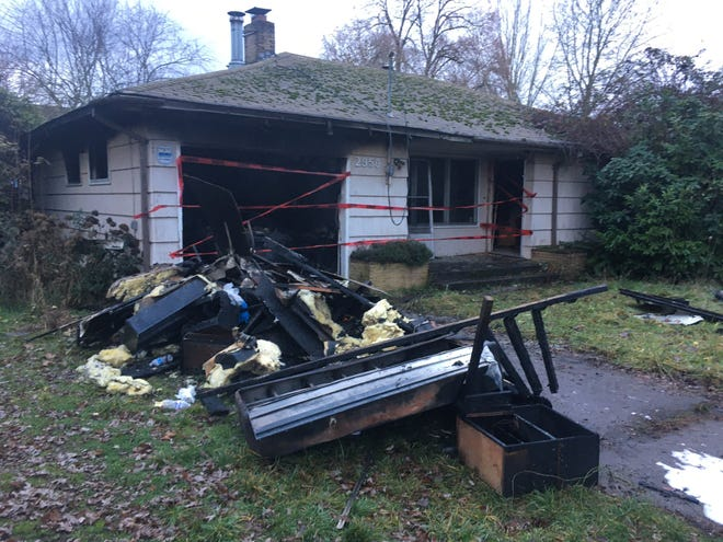 Two people were rescued from a 2-alarm house fire on Hollywood Drive early Friday, Dec. 13.