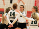 Harper High School's Talli Millican (2) celebrates with her teammates after a point during the 2019 season.