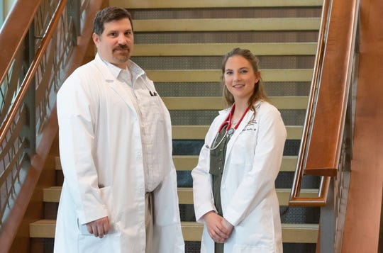 Drs. Gene Campbell (left) and Abby Serpan (right) are the first two doctors to begin the final stage of their training as physicians in the Pierre Rural Family Residency Program. Both Serpan and Campbell said they had always planned on working in rural communities once they completed their training, so finding a residency program specifically designed to train rural doctors was an opportunity they couldn't pass up.