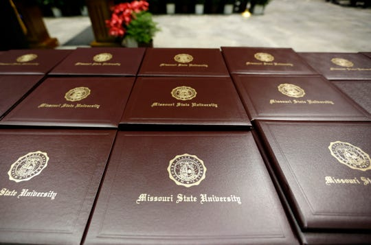 Missouri State University conferred more than 1,500 degrees during the fall commencement ceremony at JQH Arena on Friday, Dec. 13, 2019.