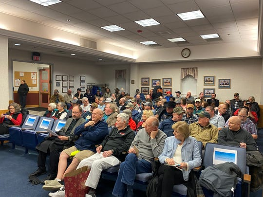 An hour before Thursday's Staunton City Council meeting started, council chambers had almost filled up. By 7:30 p.m., attendees also filled other parts of City Hall, including the hallway.
