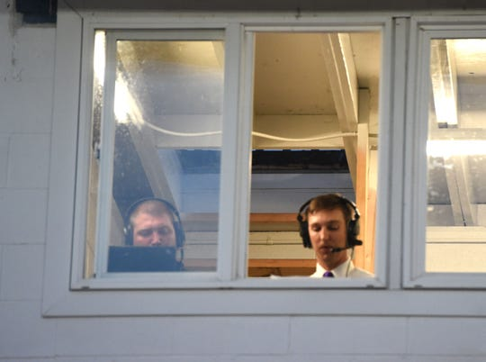 Leland McCray, left, and Joe Deck will be calling Saturday's state championship football games on Staunton's ESPN 1240.