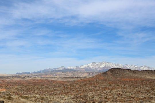View of Red Cliffs Desert Reserve near the Pioneer Hills Trailhead.