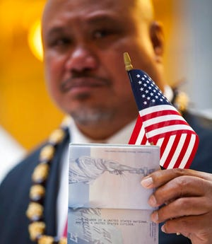 File- In this undated file image provided by nonprofit advocacy and legal group Equally American, John Fitisemanu, an American Samoan and the lead plaintiff in a lawsuit against the United States seeking full U.S. citizenship. People born in the territory of American Samoa should be recognized as U.S. citizens, a federal judge in Utah decided Thursday, Dec. 12, 2019, in a case filed amid more than a century of legal limbo but whose eventual impact remains to be seen.  (Katrina Keil Youd/Equally American via AP)