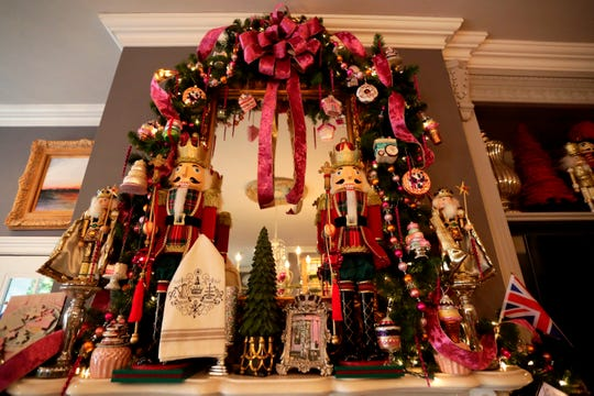 With a London theme in mind, Stephanie Jansen has room covered in Christmas decorations representing  Kensington Palace. Jansen's home is a part of the Tallahassee Symphony Society's 27th Annual Tour of Homes.