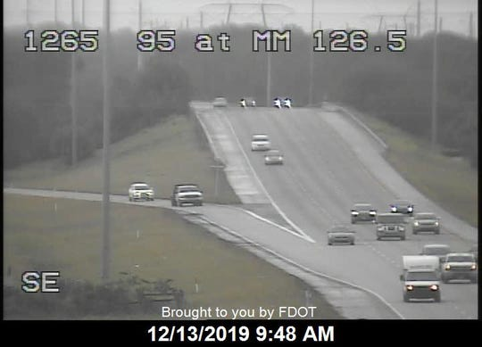 A crash involving three vehicles resulted in injuries and traffic delays on Interstate 95 near Midway Road outside Fort Pierce on Friday, Dec. 13, 2019.