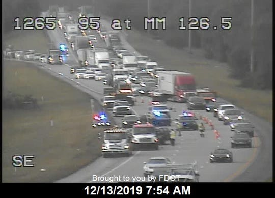 """A """"major crash"""" occurred on Interstate 95 near Midway Road outside Fort Pierce on Friday, Dec. 13, 2019, according to highway officials."""