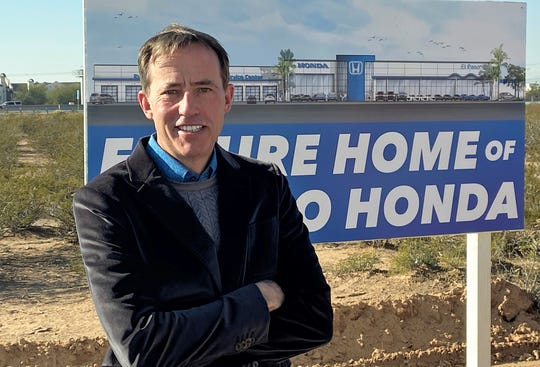 Richard Poe II, president and owner of El Paso Honda, at the Dec. 12 groundbreaking ceremony for construction of the dealership's new facility to be located on Joe Battle Boulevard in far East El Paso.