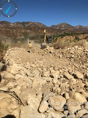 Crews started work on Nov. 4 to remove about 50,000 cubic yards of sediment outside a river diversion facility.