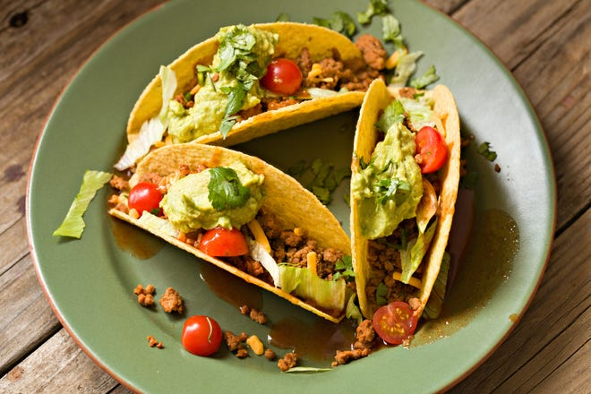 Avocado turkey tacos, lean tostones and sweet coleslaw are delightful, healthy alternatives to high-carb holiday dishes.