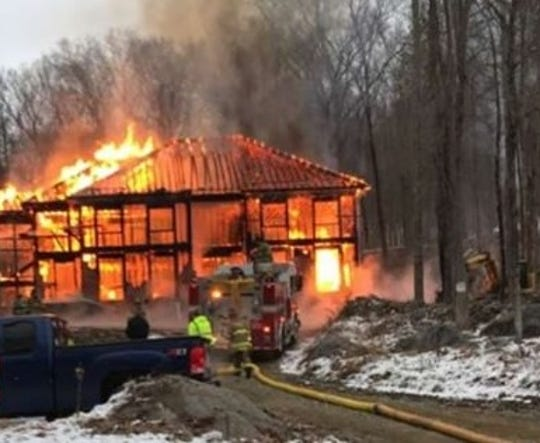 A fire on Dec. 13, 2019, destroyed a house that was under construction on Canopus Hollow Road in Putnam Valley.