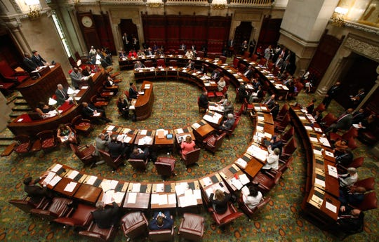 The New York State Senate Chamber in Albany on May 20, 2019.