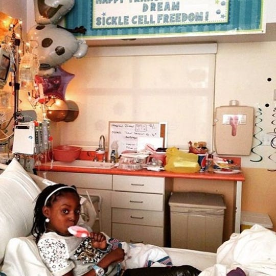 Dream Shepard of Ossining awaiting a stem cell transplant in December 2014 to address her sickle cell disease.