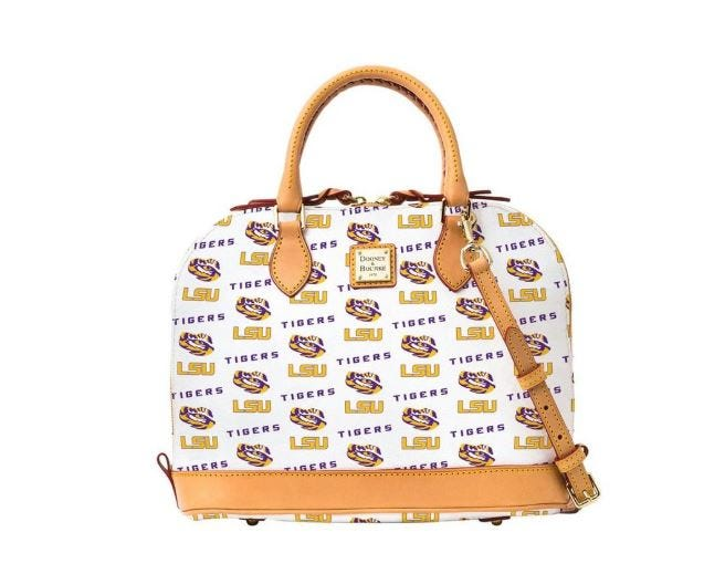 Go shopping in style with this LSU-themed handbag.