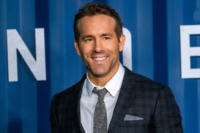 """Ryan Reynolds at the New York premiere of """"6 Underground,"""" looking pretty good for a guy who grapples with a human eyeball."""