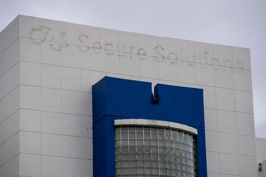 The sign for a former G4S office in Miami is still visible after they vacated the building.