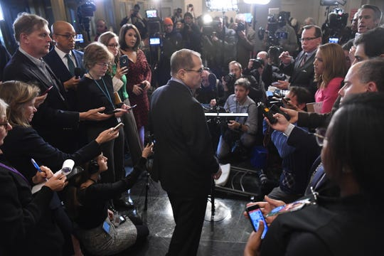 House Judiciary Committee Chairman Rep. Jerrold Nadler, D-N.Y., speaks to the media after the House Judiciary Committee approved the articles of impeachment against President Donald Trump  on Dec. 13, 2019.