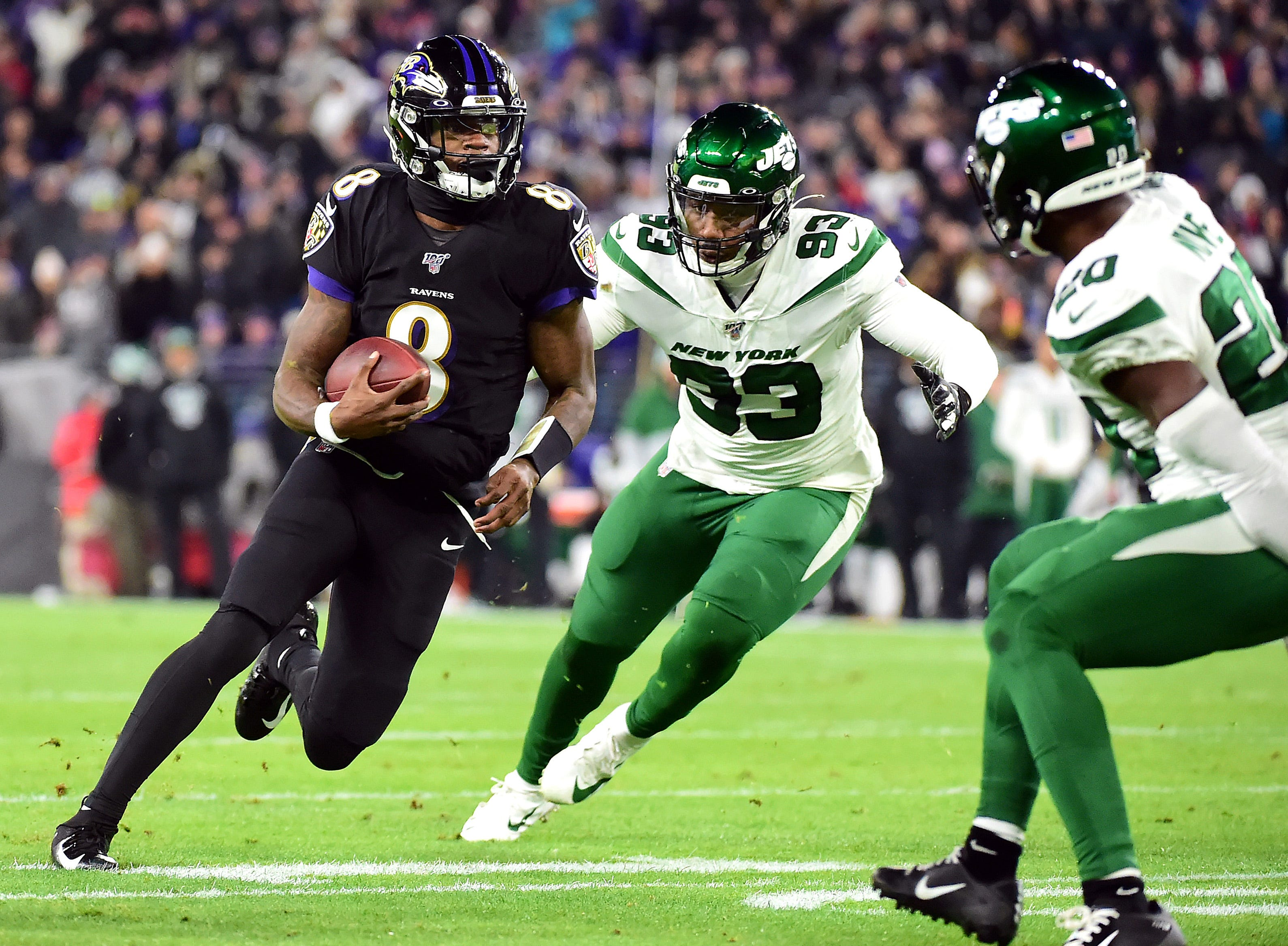 Lamar Jackson, Ravens clinch second consecutive AFC North title with win over Jets