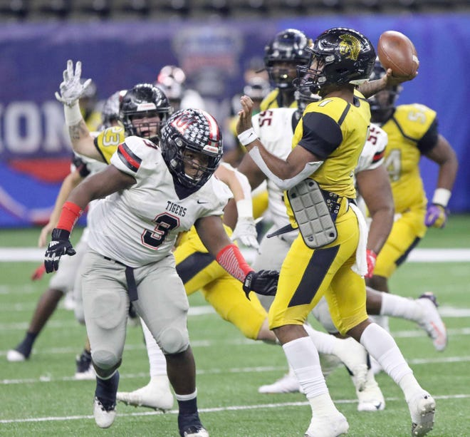 Ferriday quarterback Kobe Dillon (1), the MVP of the Class 2A state championship game, was named the first-team small school athlete. Ferriday, Oak Grove and OCS dominated the first team.