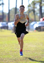 Leesville's Justin Cannata competes in a meet this year. Cannata is the 2019 All-Cenla boys cross country MVP.