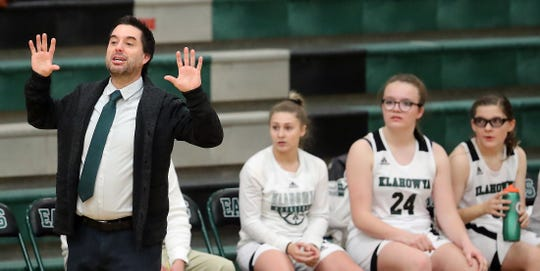 Klahowya girls basketball coach Chris Koebelin gave up playing soccer during his youth.