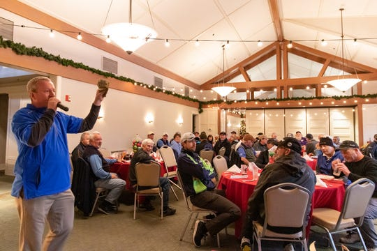 Shawn Cucciardi, vice president of golf operations for Columbia Hospitality, speaks to the participants in the 2019 Gene Kennedy Memorial Bellringer Classic at McCormick Woods on Dec. 12.
