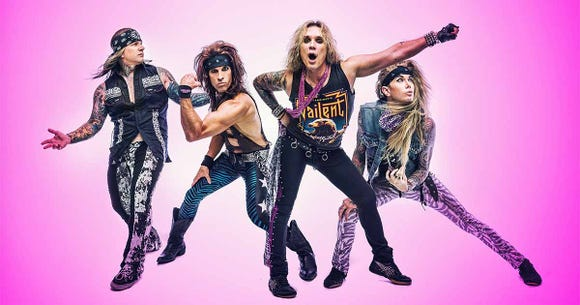 Steel Panther play a sold-out show Dec. 22 at the Suquamish Clearwater Casino Resort.