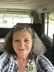 "Carol Conkling-Berry of Titusville is pictured just after voting in November 2016. At one point not long before her death from cancer, she told her sister it would be ""easier and cheaper to die."" She passed away on Black Friday 2018."
