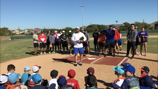 Rangers catcher Jose Trevino hosted his third annual toy drive and home run derby at Oso Pony Little League Field on Saturday, Dec. 14, 2019.