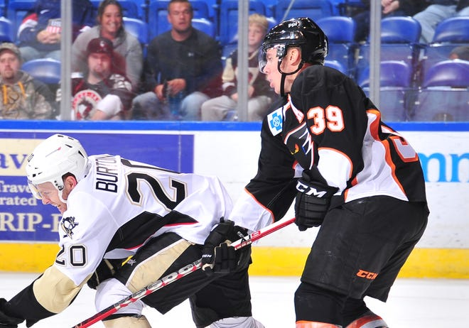 Logan Pyett played in one preseason game for the Lehigh Valley Phantoms before he was diagnosed with sarcoma in 2015.