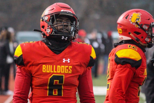 Ferris State defensive back Alex Thomas before the game against West Florida on Saturday, Dec. 14, 2019, in Big Rapids.