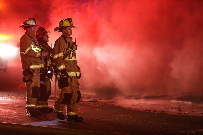 Fond du Lac Fire/Rescue battle a house fire Saturday, Dec. 14, 2019, at 222 W. Arndt St. in Fond du Lac, Wis.