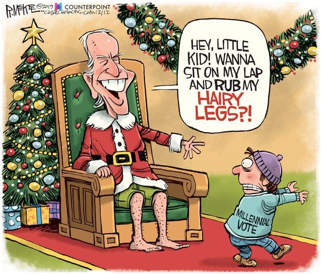 Joe Biden on his hairy legs.