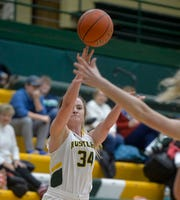 CMR's Kiely Gunderson attempts a shot in Friday's basketball game against Glacier.