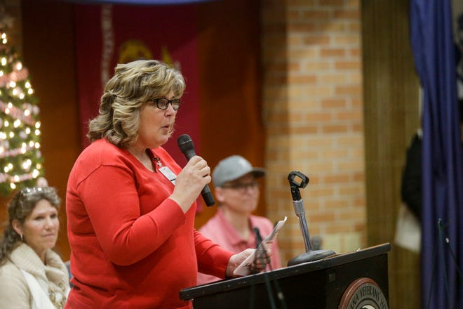 Linda Sharp, Indiana Veterans' Home Superintendent speaks during an event, Saturday, Dec. 14, 2019 in West Lafayette.