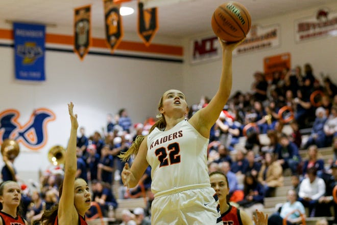 Sydney Jacobsen's 45 points against Muncie Central is a Harrison single-game record.