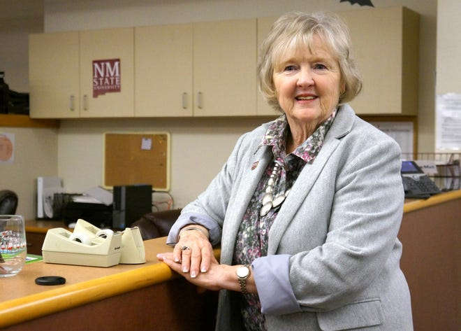 Susan Brown, interim dean of New Mexico State University's College of Education, stands in the office space that will eventually become the Glass Family Research Institute for Early Childhood Studies. Construction on the new institute will begin in the ground floor of O'Donnell Hall in January, and is expected to be complete in summer 2020.