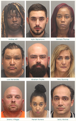 At least nine people were arrested in connection to a sex trafficking bust at a Palm Desert resort, according to the Riverside County Sheriff's Department.