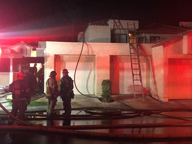 Firefighters responded to the blaze at The Oasis Resort on Friday evening.