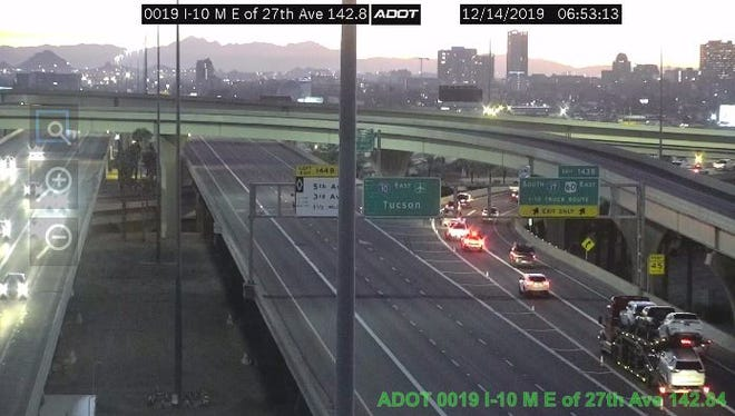 A morning crash closed part of the eastbound Interstate 10 on Saturday, Dec. 14, 2019.