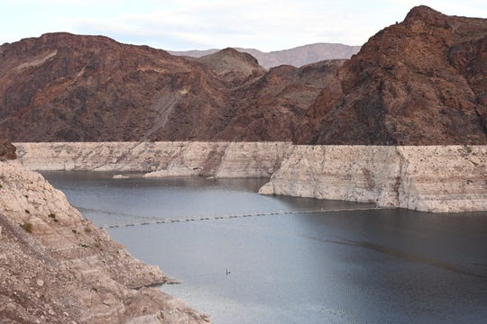 Lake Mead stands at 40 percent of full capacity on Dec. 13.