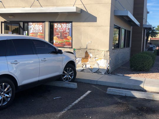Vehicle crashes into the wall of a Burger King in Mesa on Dec. 14, 2019