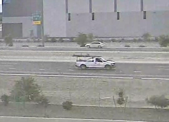 Photo of truck believed to be involved in Loop 303 road rage shooting on Dec. 12, 2019.