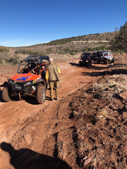 Volunteers from the Yavapai County Search and Rescue Team near the crash site
