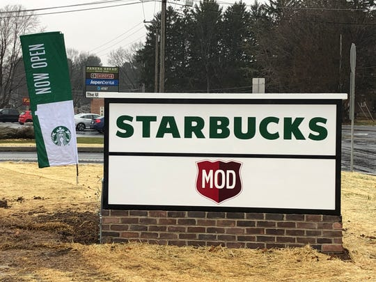 Starbucks will be joined by MOD Pizza in a new retail building by early 2020.