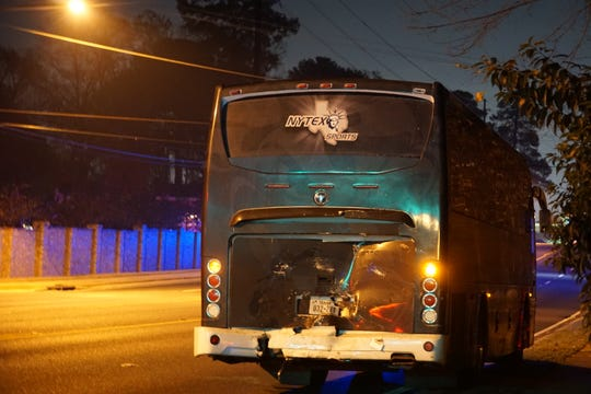 The Lone Star Brahmas' bus was involved in a fatal accident while stopped at a red light late Friday night in Shreveport.