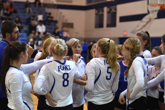 Sue Leonard is the veteran volleyball coach of the Fort Defiance Indians.