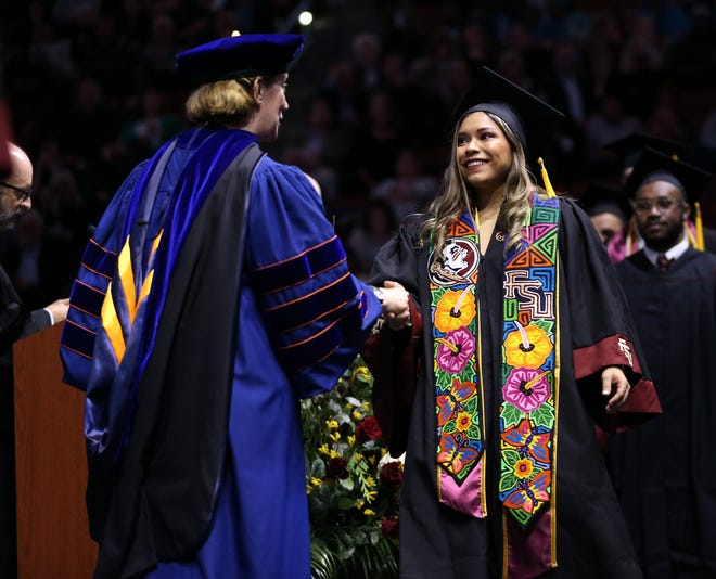 Florida State University students celebrated their achievements during the fall commencement ceremony on Friday, Dec. 13, 2019.